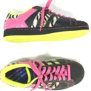 Adidas Superstar 2 Zebra G06328 Black Pink US 7.5